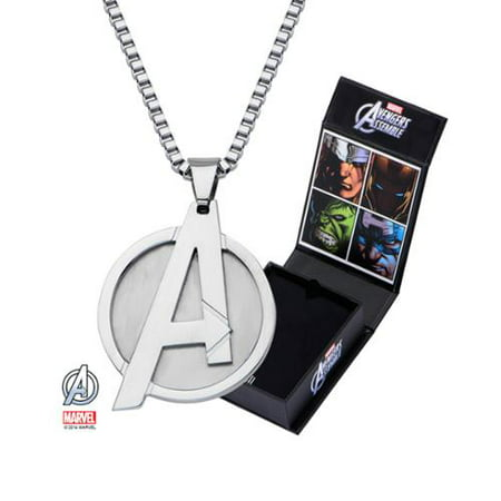 Marvel Logo Stainless Steel 24 Chain Pendant Necklace