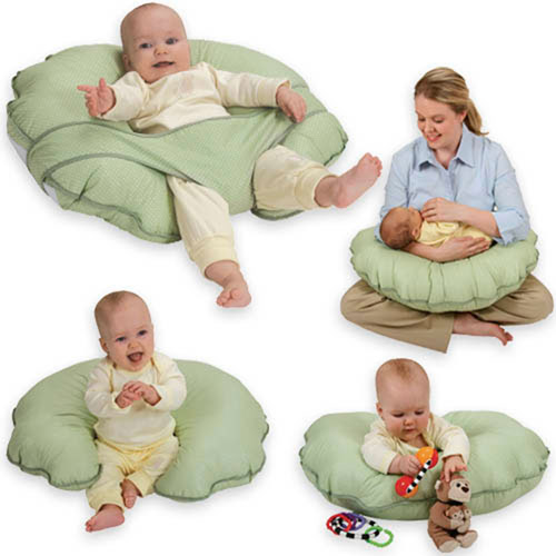 Leachco - Cuddle-U Basic Nursing Pillow and More, Sage Dots