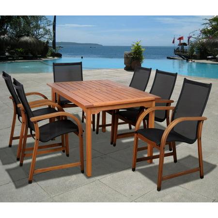 Bahamas 7-Piece Eucalyptus Rectangular Patio Dining Set