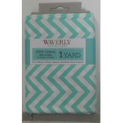 Waverly Inspirations Pre-Cut Zigzag Aqua Fabric, per Yard