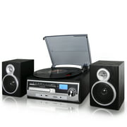 Best Shelf Speakers - Trexonic 3-Speed Turntable with CD Player, FM Radio Review