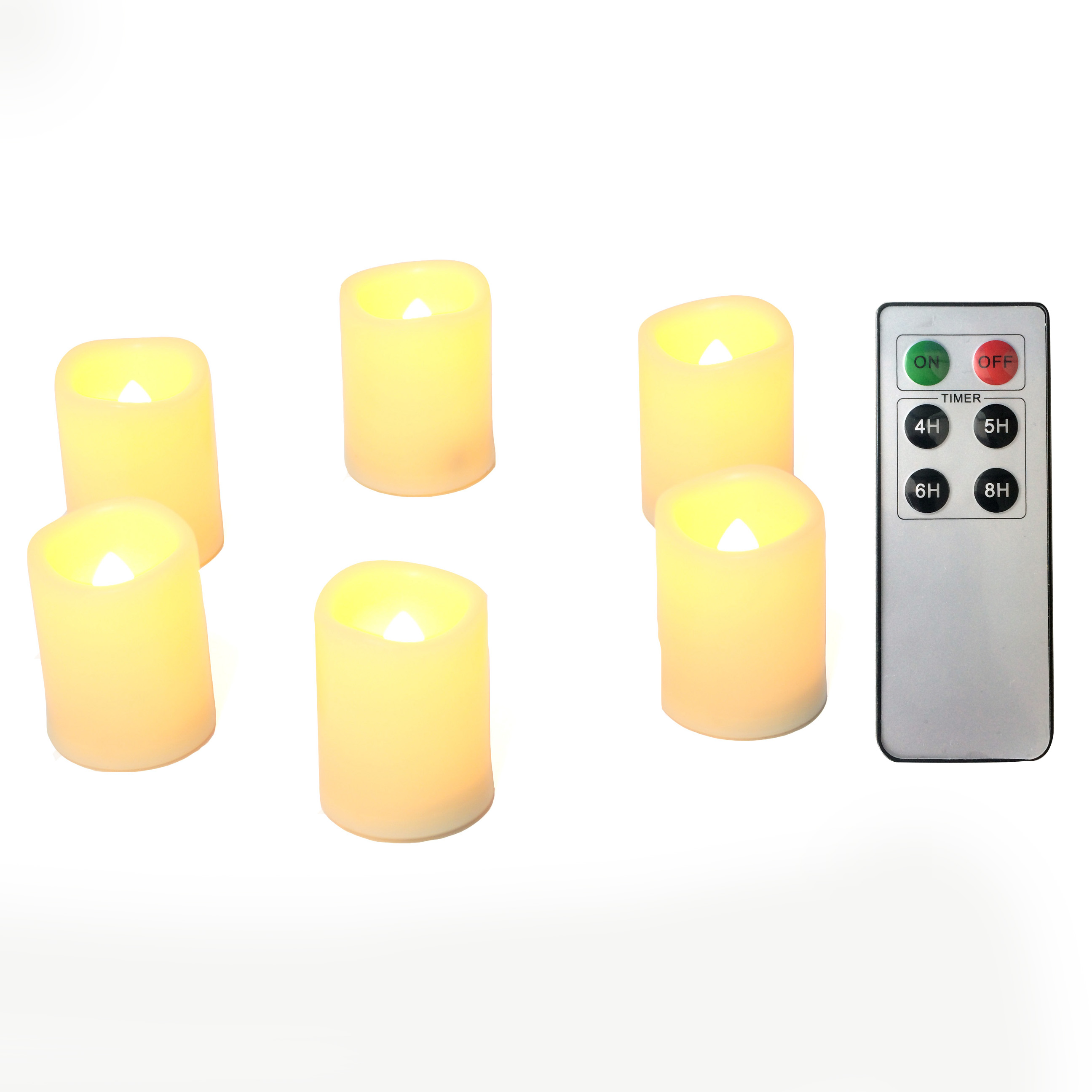Flameless LED Battery Operated Tea Light / Votive Candles ...