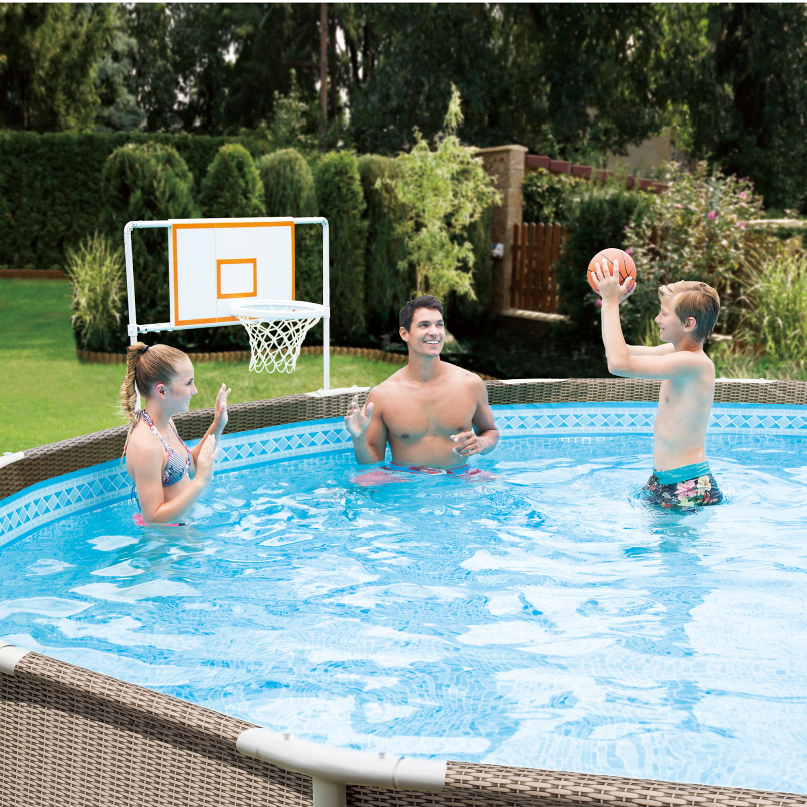Summer Waves Basketball Set for 10'-20' Metal Frame Above Ground Swimming Pools by POLYGROUP TRADING LIMITED