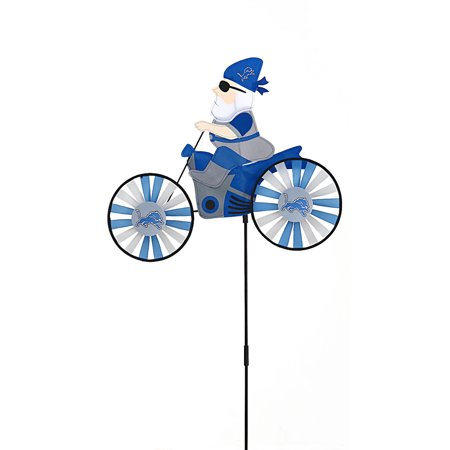 Detroit Lions Motorcycle Riding Garden Gnome Wind Spinner ...