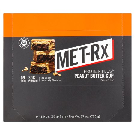 Met Rx Bar  30 Grams Of Protein  Peanut Butter Cup  3 Oz  9 Ct
