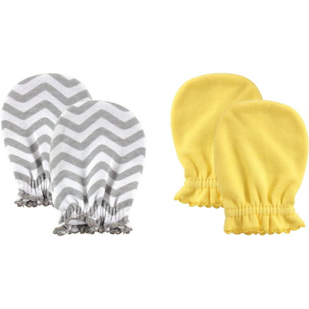 Luvable Friends Baby Boy Scratch Mittens, 2-Pack