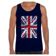Awkward Styles British Flag Tanks for Men Britain Lovers Tank Top for Him New England T Shirt for Boyfriend Patriotic United Kingdom Flag T Shirt for Men Birthday Gifts for Englishmen