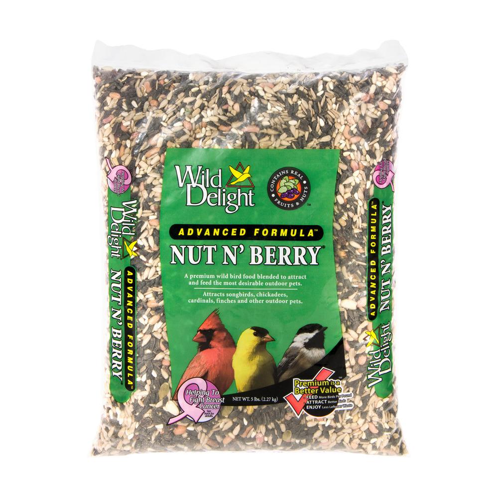 Wild Delight Nut N' Berry Wild Bird Food Advanced Formula, 5.0 LB