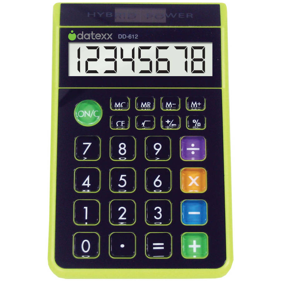 Datexx Hybrid Desk 8-Digit Calculator, Green