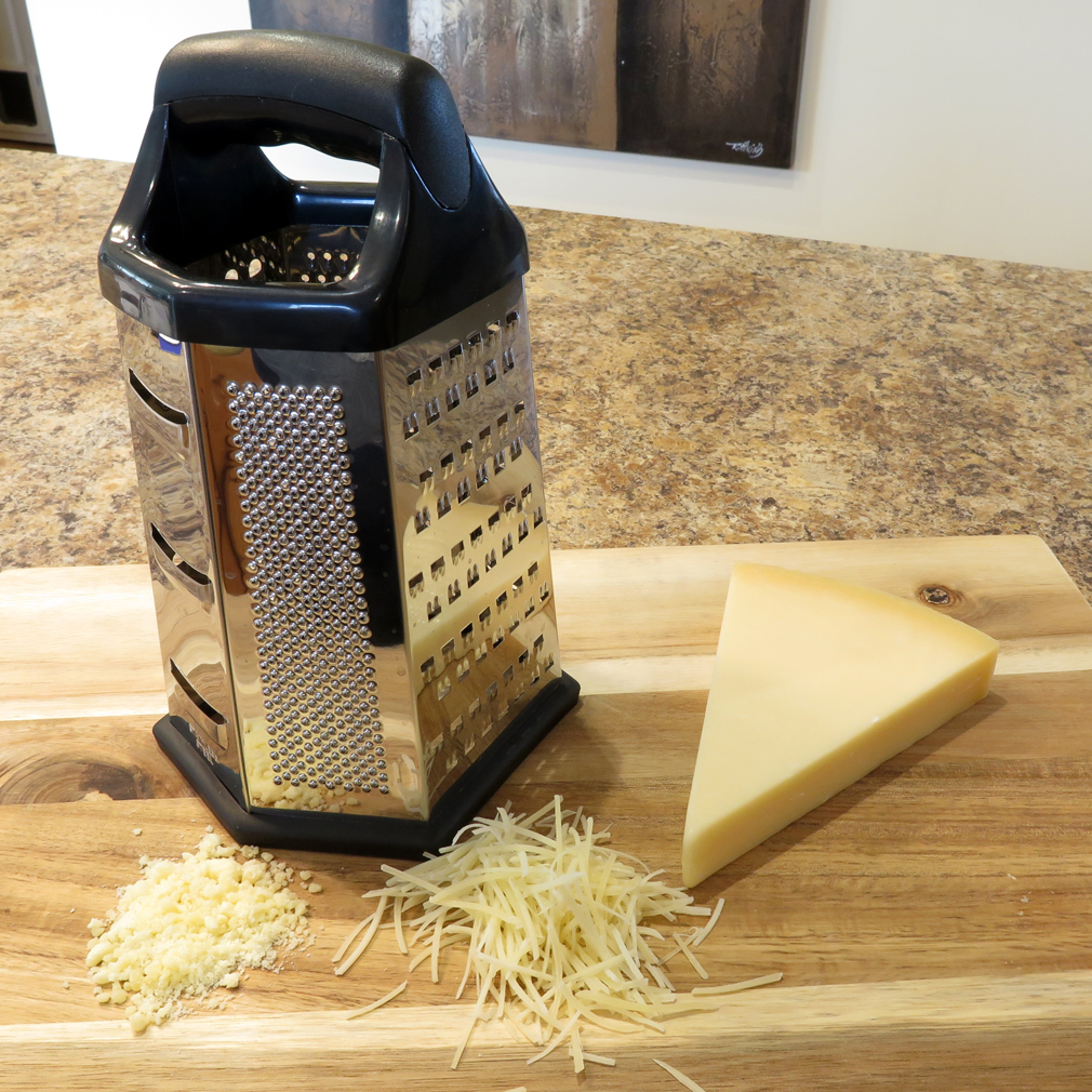 "Evelots Cheese Grater Vegetable Slicer Stainless Steel, 6 Sided, 9.5""H"