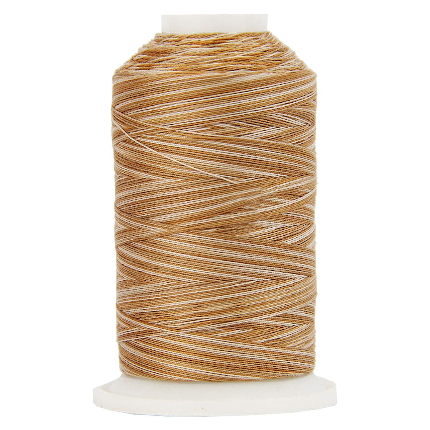 Threadart Variegated Cotton Thread 600M - Color 2636 - Wildflowers - 40/3wt - 22 Colors Available - 3 spool bundle packs