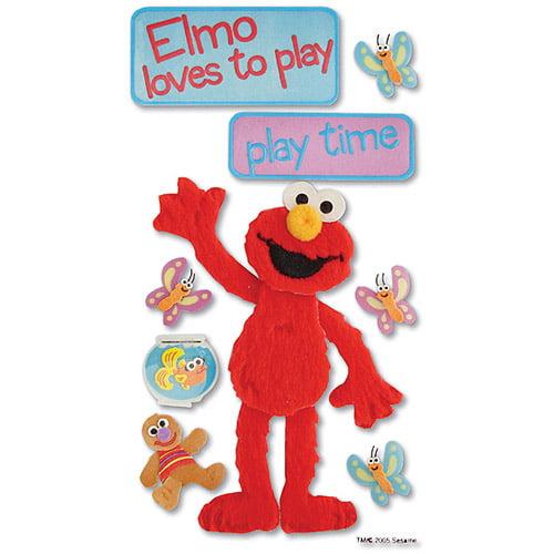 Sesame Street Dimensional Stickers, Play Time Elmo