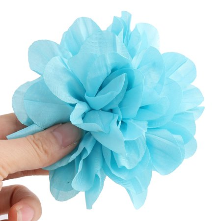 Home Birthday Party Decor Fabric Artificial Handcraft DIY Flower Blue 5 Pcs - image 2 of 3
