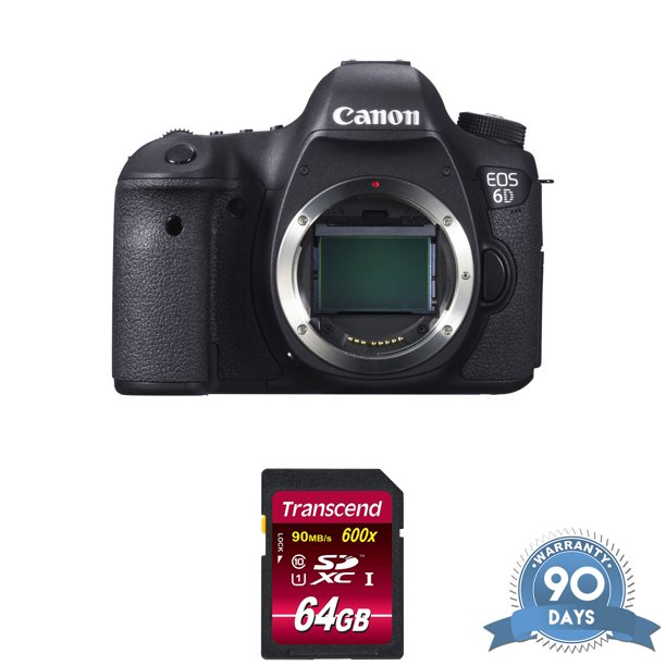 Canon EOS 6D DSLR Camera (Body Only) - with Memory Card - RENEWED