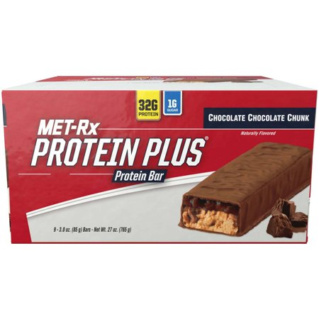 Met Rx Protein Plus Chocolate Chocolate Chunk Protein Bars  3 0 Oz  9 Count