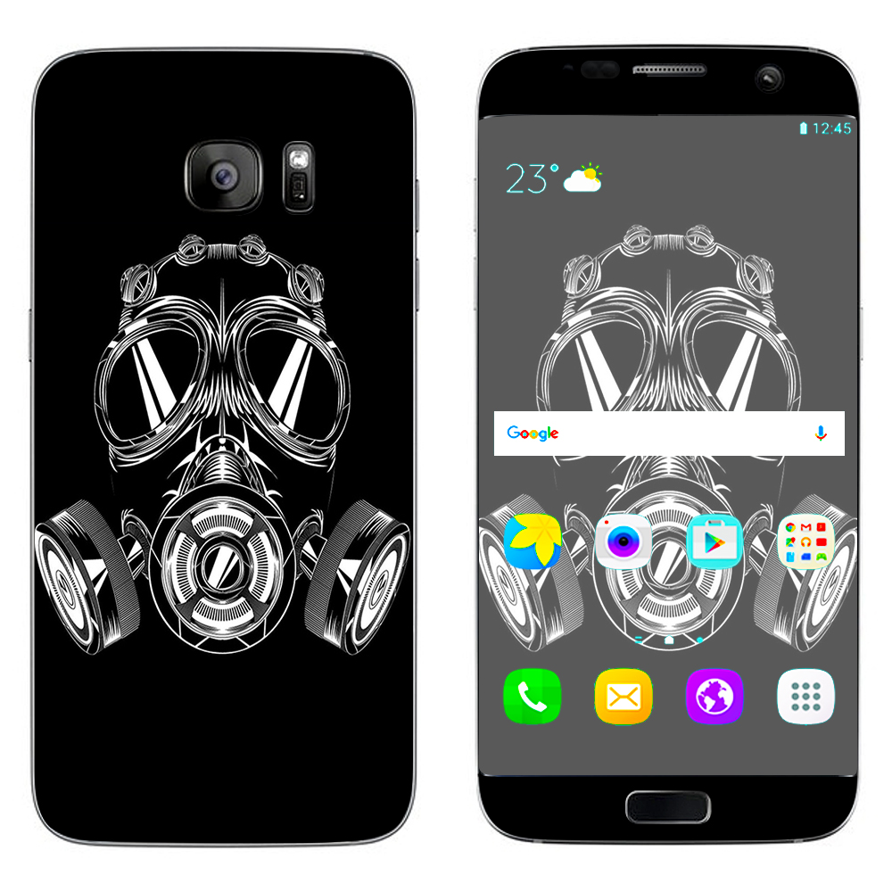 Click here to buy Skin Decal For Samsung Galaxy S7 Edge   Apocalypse Gas Mask by Itsaskin.