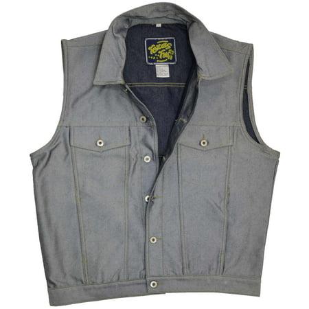 Sel Las Studs Color Uneven Cutting Denim Fabric Vest Material Best L O 48 209