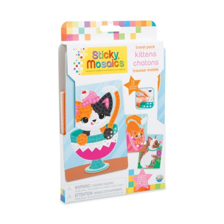 The Orb Factory Sticky Mosaics Kittens (Travel Pack)