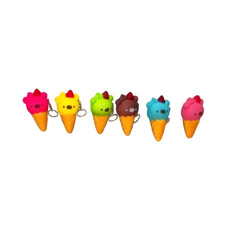 Squishies Koala Ice Cream Cone Soft Sqeezable Keychain, Assorted, 1 count (Ice Cream Keychain)