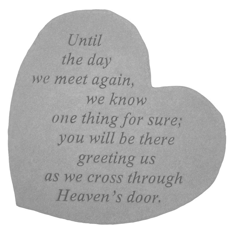 Until The Day We Meet Again Heart Shaped Memorial Stone