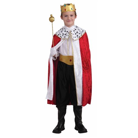REGAL KING set royal prince boys kids halloween costume medieval knight LARGE