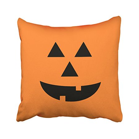 WinHome Funny Vintage Popular Pumpkin Orange Halloween Pattern Polyester 18 x 18 Inch Square Throw Pillow Covers With Hidden Zipper Home Sofa Cushion Decorative - Popular Halloween Stores