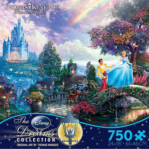 Ceaco Kinkade Disney Dreams Cinderella Puzzle, 750 pieces