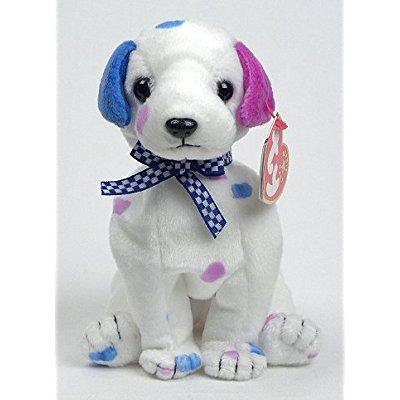 ty beanie baby - dizzy the dalmatian (colored spots & colored ears) - Baby Dalmatian