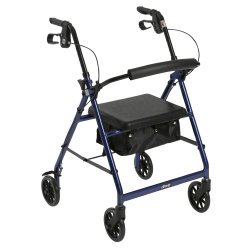 McKesson Rollator Folding Aluminum 32 to 37 Inch Handle Height 146-R726BK