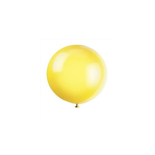 36'' Jumbo Latex Lemon Yellow Balloons, 6ct