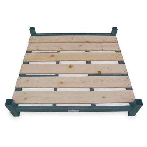JARKE BB-4-4848HW Stack Rack Base, Wood, 48x48 in., 4000 lb.