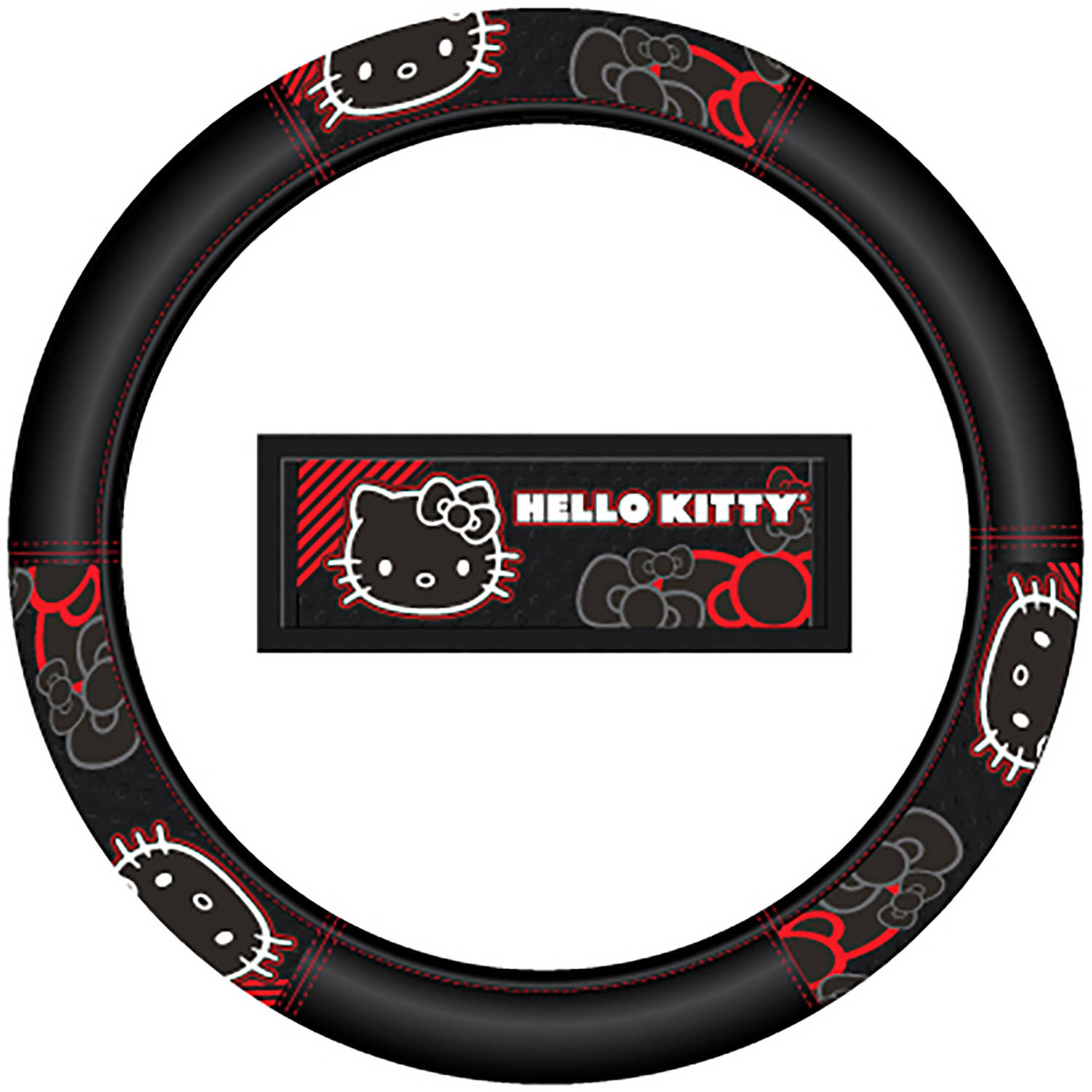 Hello Kitty Dots Steering Wheel Cover