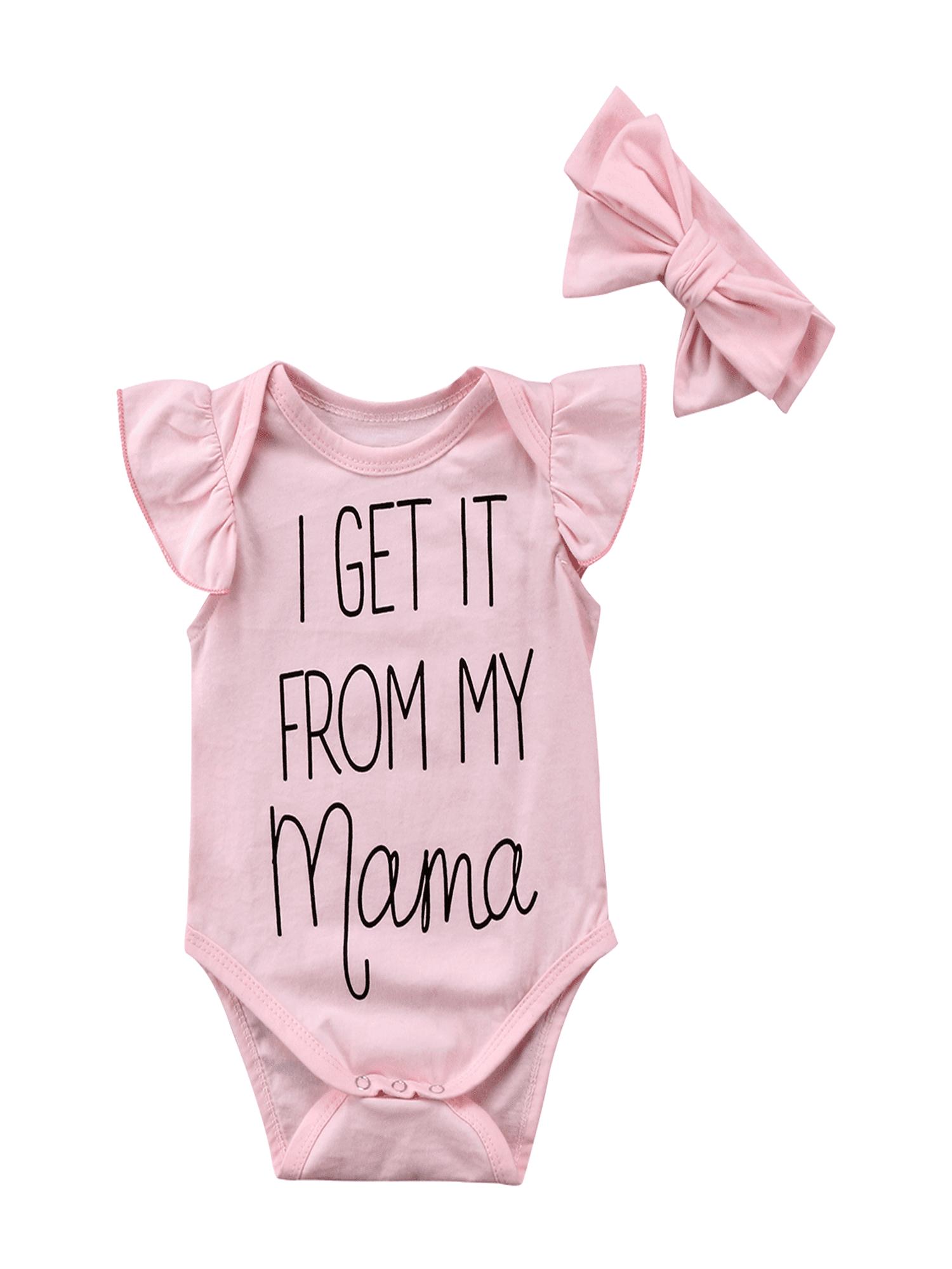 Headband Clothes Outfits Set Infant Baby Girls Floral Romper Bodysuit Jumpsuit