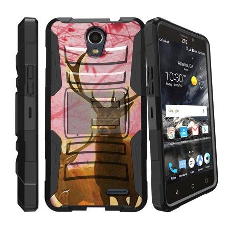 ZTE Prestige 2 Case | ZTE Midnight Pro Case | ZTE Avid Trio Holster Case [ Clip Armor ] Majesty Pro 2017 Clip & Kickstand Phone Cover - Pink Deer Stag