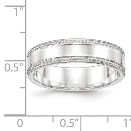 925 Sterling Silver 6mm Design Edge Size 11 Band Ring - image 1 de 2