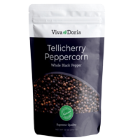 Viva Doria Tellicherry Peppercorn (Whole Black) 12 oz for Grinder Refill