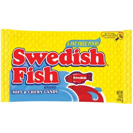 Swedish original soft chewy fish candy 14 oz for Sour swedish fish