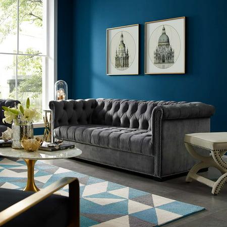 Modway Heritage Velvet Upholstered Sofa, Multiple Colors ()