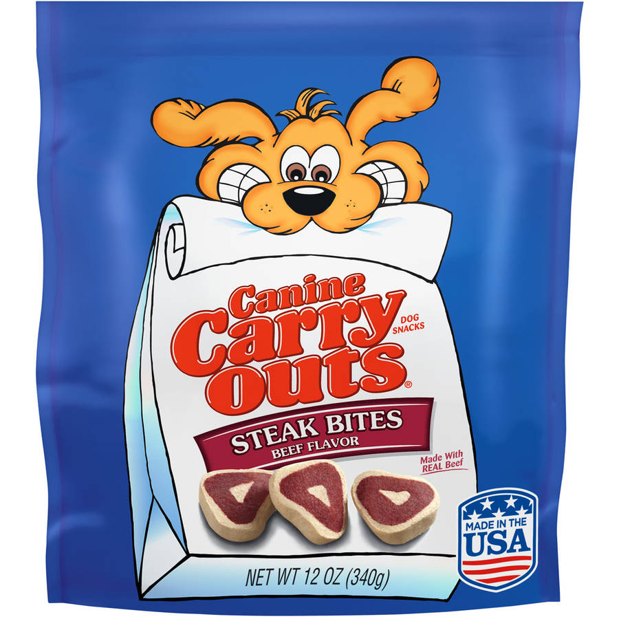 Canine Carry Outs Steak Bites Beef Flavor Dog Treats, 12 Oz.