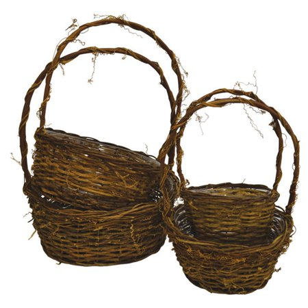 Craftware Round Twiggy Vine Nesting Baskets - Set of 4