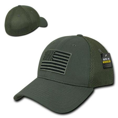 Olive USA US American Flag Tactical Operator Mesh Flex Baseball Fit Hat Cap  - Walmart.com b2ea1c2ab4e