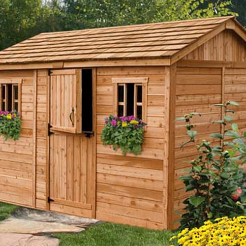 Outdoor Living Today CB128 Cabana 12 x 8 ft. Garden Shed by Outdoor Living Today