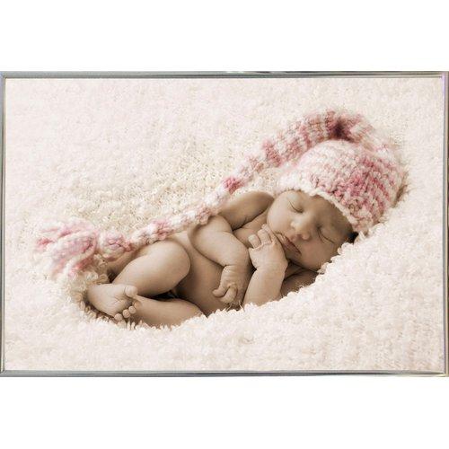 Winston Porter 'Striped Hat Baby' Photographic Print
