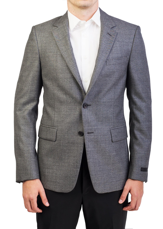 Prada Men's Wool Two-Button Sport Coat Jacket Black White by Prada