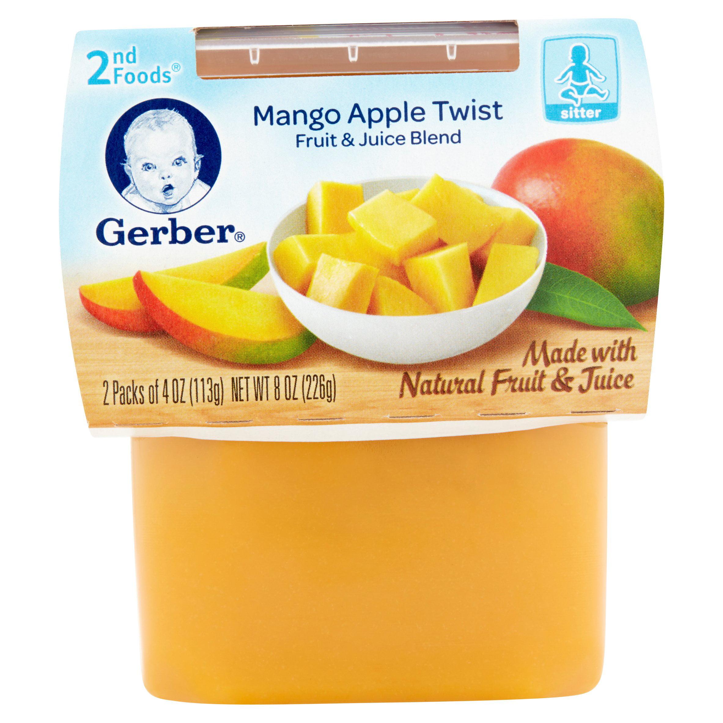 Gerber 2nd Foods Mango Dessert, 3.5 oz, 2 ct by Gerber
