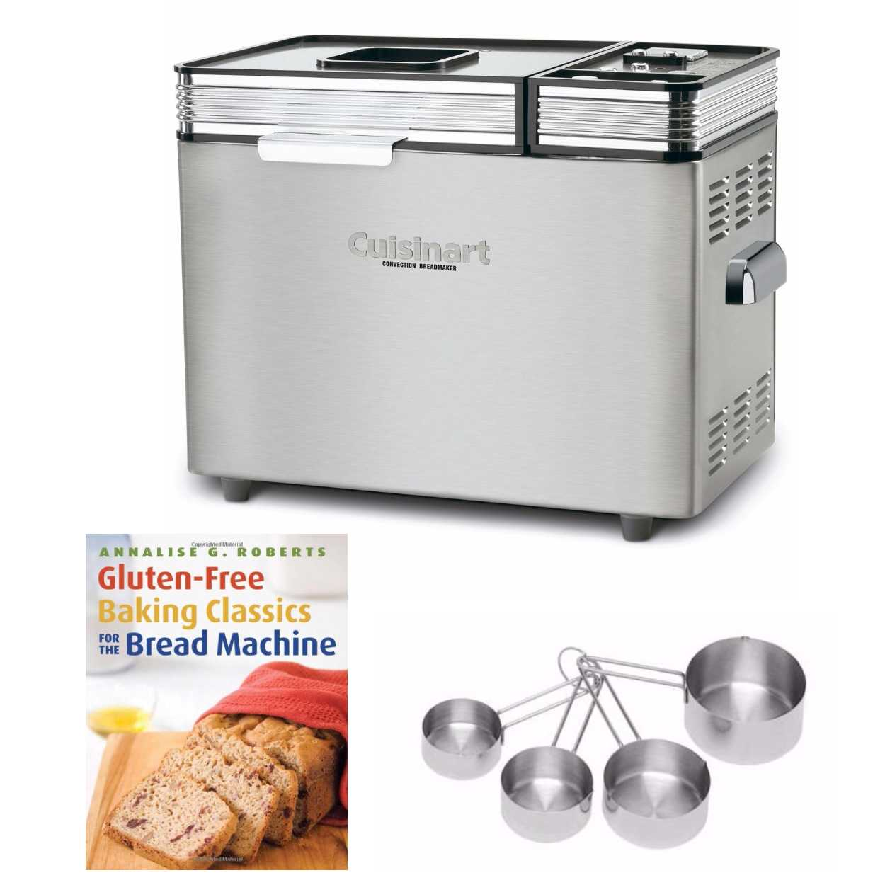 Cuisinart 2 lb. Bread Maker with Gluten-Free Cookbook and 4-Piece Measuring Cup (Refurbished)