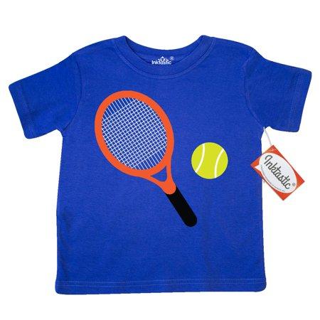 Inktastic Tennis Racket And Ball Toddler T-Shirt Sports Player Team Hobbies Hobby Tees. Gift Child Preschooler Kid Clothing Apparel (Best Tennis Racquet For Intermediate Player 2017)