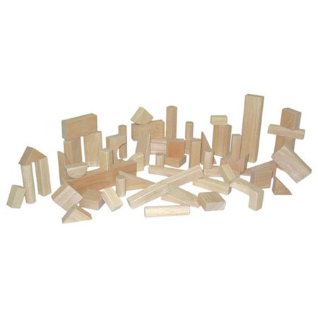 Wood Designs 60200 - Hard Maple Blocks - Basic Set With 15 Shapes And 56 Pieces