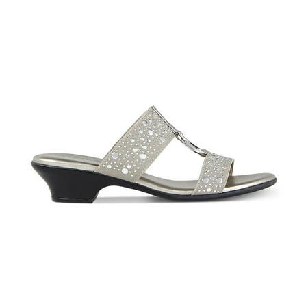 7b968895b6492 Karen Scott Womens Eanna Fabric Open Toe Casual Slide Sandals ...