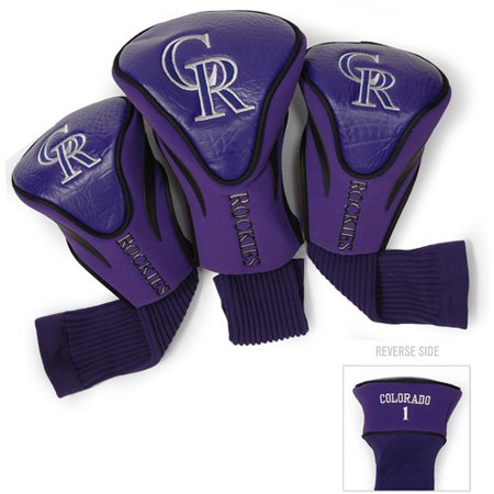 Team Golf MLB Colorado Rockies 3 Pack Contour Head Covers by